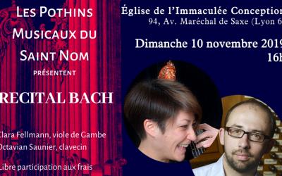 Concert Récital de Bach Immaculée Conception