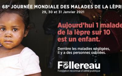 Journées Mondiales contre la lèpre Fondation Raoul Follereau 30 et 31 janvier 2021