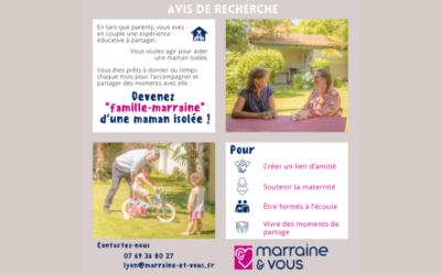 L'Association Marraine&Vous recherche des familles marraines