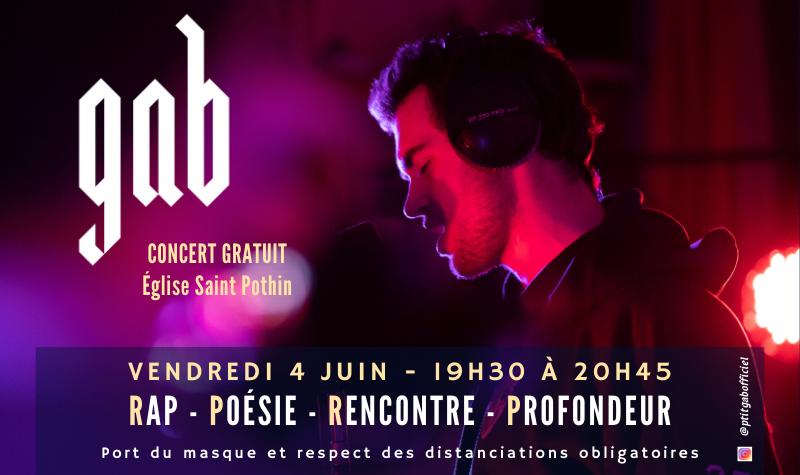 Concert de rap : GAB à Saint Pothin