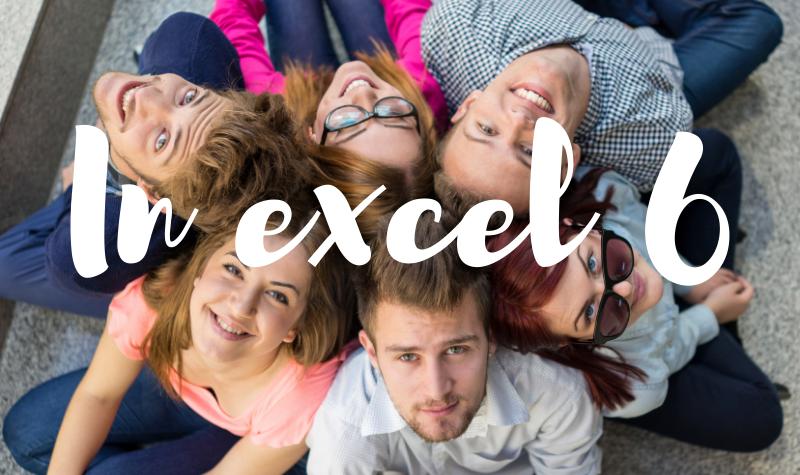 In Excel 6 : les inscriptions 2021/2022 sont ouvertes !